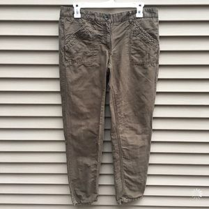 Ann Taylor Loft Marisa straight leg tan brown pant